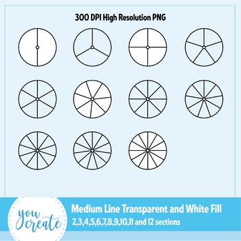 Spinners Clip Art • Blank Black and White • 44 high res PNG