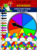 Spinners Clip Art - Color and Black and White