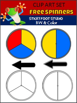Spinners Clip Art Freebie (Sticky Foot Studio)
