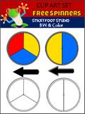 Spinners Clip Art Freebie (Sticky Foot Studio)