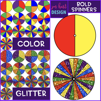 Spinners Clip Art - Bold