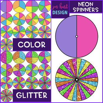 Spinners Clip Art - Neon