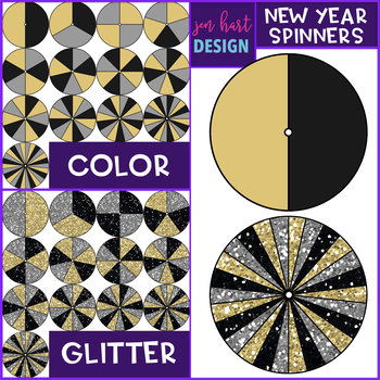 Spinners Clip Art - New Years