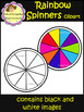 Spinners Clip Art - Rainbow model (School Designhcf)
