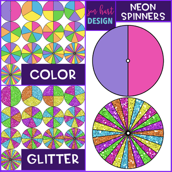 Spinners Clip Art - Neon, Bold, and Pastel Bundle {jen hart Clip Art}