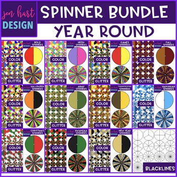 Spinners Clip Art - Spinning Through the Year Bundle {jen hart Clip Art}