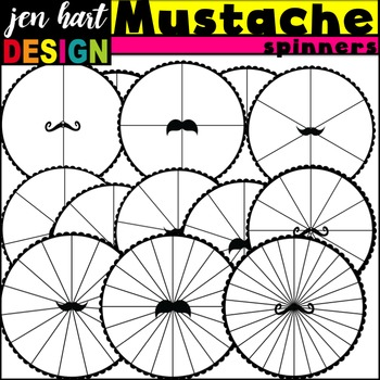 Spinners Clipart {Mustaches}