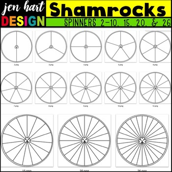 Spinners Clipart {Shamrocks}