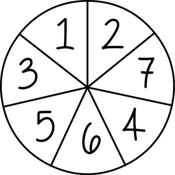 Spinners Clipart for Maths and Classroom Games