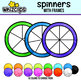 Spinners Clipart - with Frames