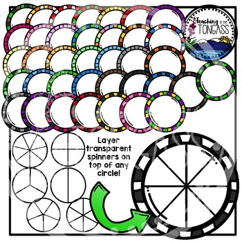 Spinners and Fractions Clipart Bundle