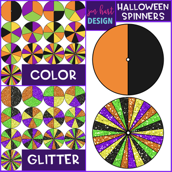 Spinners Clip Art - October Spinners