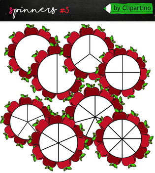 Spinners clipart Red apples