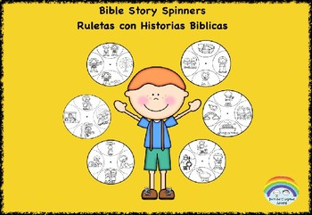 Spinners with Bible Stories, Ruletas con Historias Biblicas