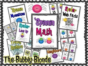 'Spinnin Math- 5 Spider Themed Centers