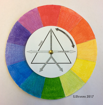 Spinning Color (Colour) Wheel Reference Activity