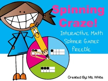 Spinning Craze! {Interactive Math Spinner Games Freebie}