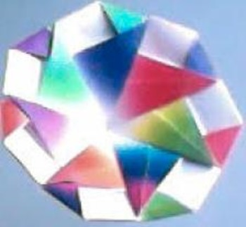 Spinning Origami Top