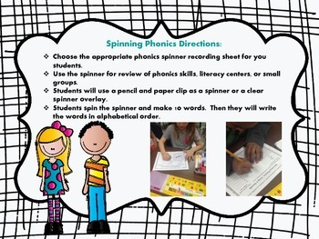 Spinning Phonics (Practice Making Words with a Spinner)