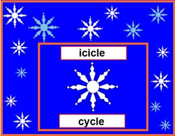 Spinning Snowflakes Rhyming Lesson