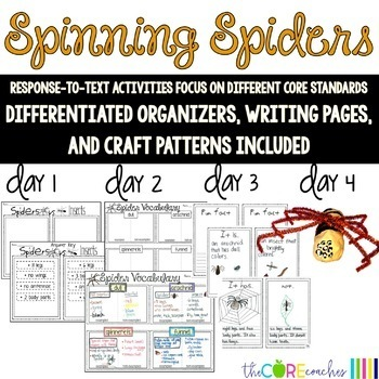 Spinning Spiders-Informational Read Aloud, Lesson Plans and Activities