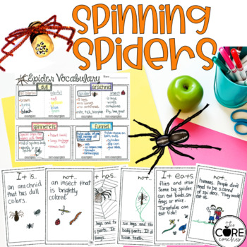 Spinning Spiders-Informational Read Aloud, Lesson Plans an