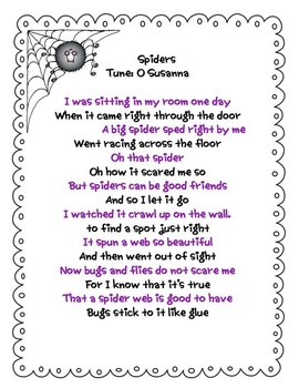 Spinning Spiders Literacy and Math Unit - Common Core Aligned