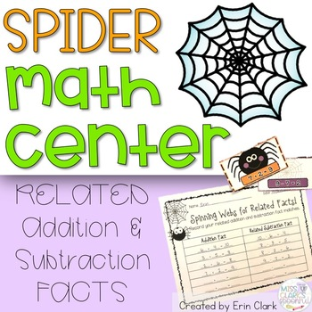 Spinning Webs for RELATED FACTS! {Common Core Aligned}