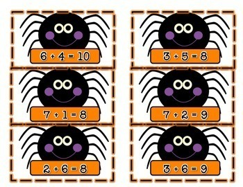 Spider Related Facts Math Center