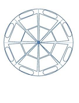 Spinning Wheel Blank Template