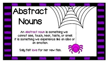 Abstract and Concrete Nouns