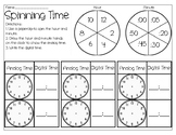 Spinning and Rolling Time- Telling Time Activity