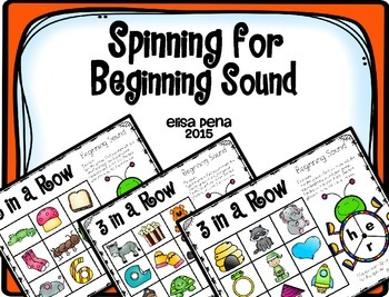Beginning Sounds: 3 in a Row Spinner Game
