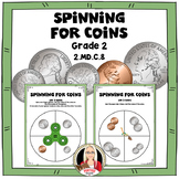 Adding Money: Spinning for Coins Math Stations