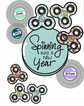 Spinning into a New Year {Bulletin Board}