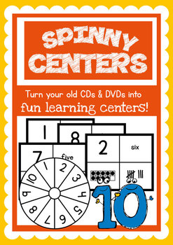 Spinny Center - Numbers to Ten - Reuse old CD / DVDs