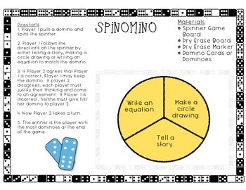 Spinomino (First Grade Addition Game)