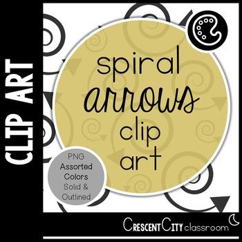 Spiral Arrow Clip Art