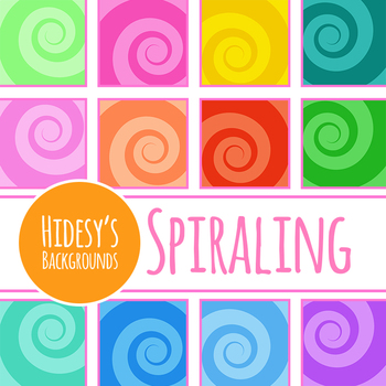Spiral Backgrounds / Digital Papers Clip Art Set for Commercial Use
