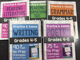 *Spiral Bound* HARD COPY Practice & Assess Bundle for Grades 4-5 ELA