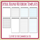 Spiral Bound Notebooks / Templates - Lined, Blank or Grid