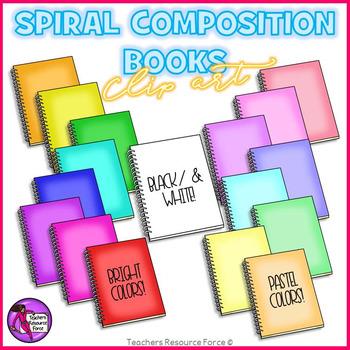 Spiral Composition Books clip art