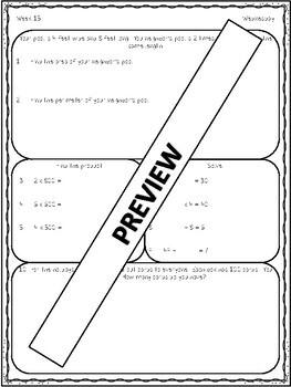 Spiral Daily Math Editable!