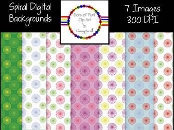 Spiral Digital Backgrounds