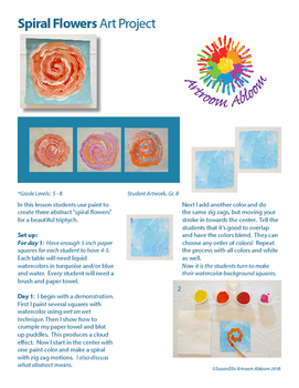 Spiral Flowers Art Project
