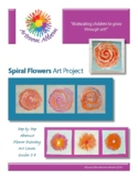 Spiral Flowers Art Project