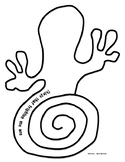 Spiral Ghost Writing Craft for October or Halloween!