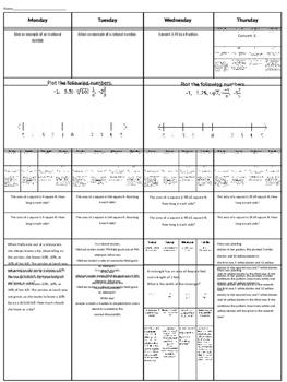 Spiral Homework #11 (8th Grade Math)