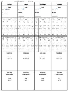Spiral Homework #15 (8th Grade Math)