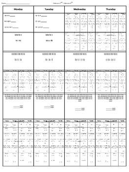 Spiral Homework (7th grade Math) #5
